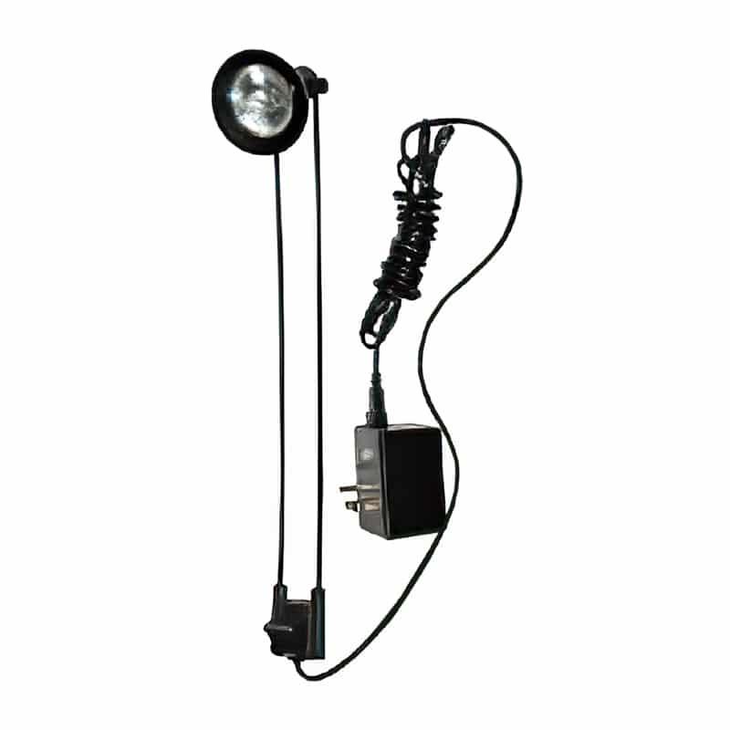 50 watt halogen light for x-snap pop-up displays, alternate view