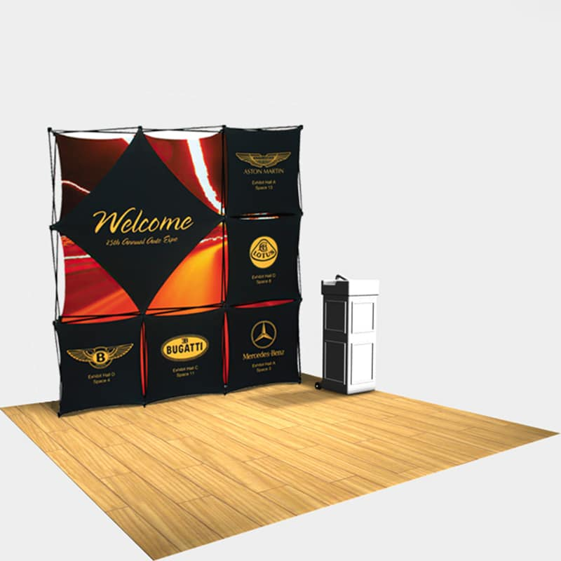 top seller with the larger diamond panel for your logo branding plus the easy change out graphic panels