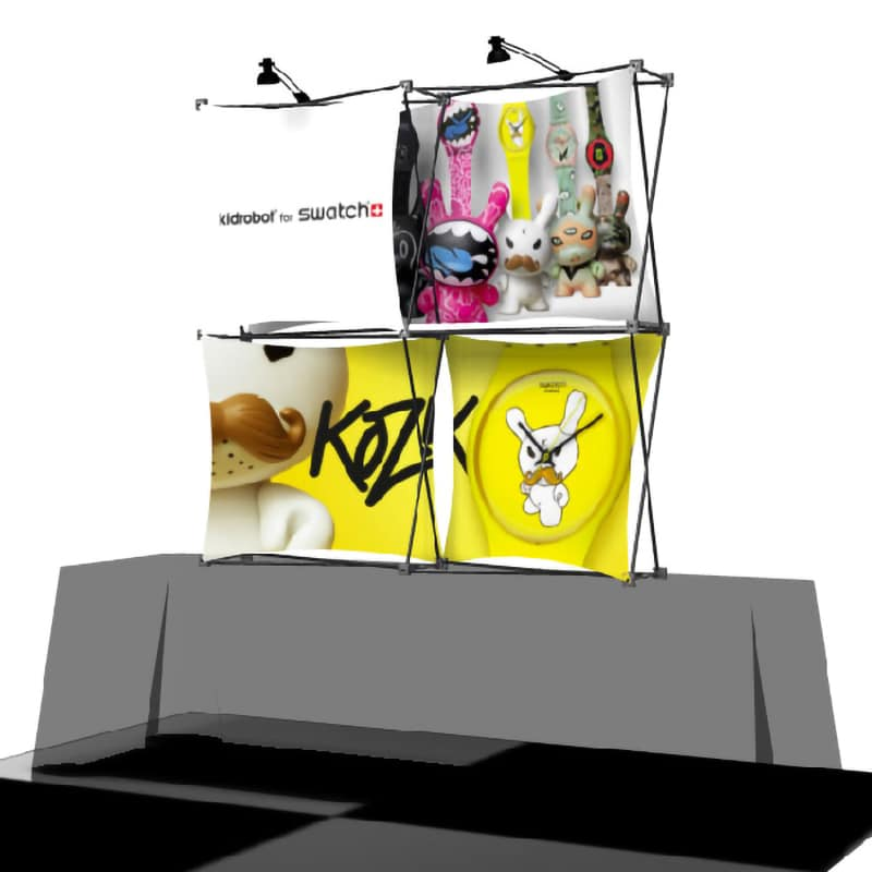XSnap 2 x 2 Kit J with dye sub printed graphics and nylon bag