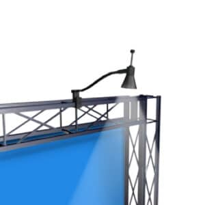 50 Watt Arm light-shown on a truss display